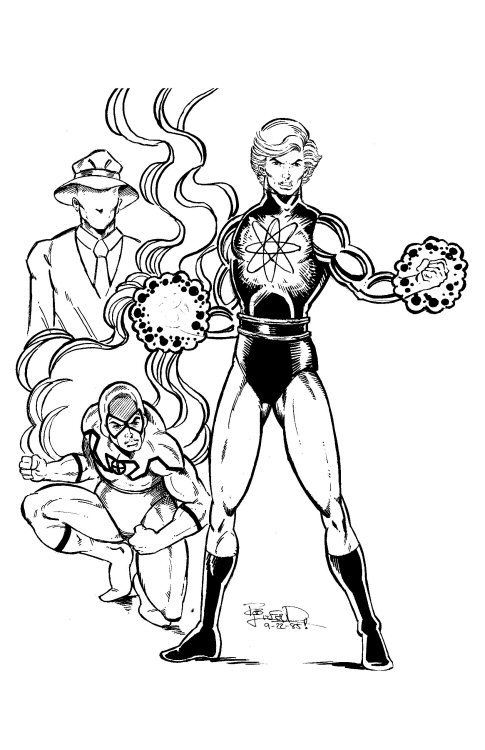 Power of the atom 1985 captain atom blue beetle and the for Blue beetle coloring pages