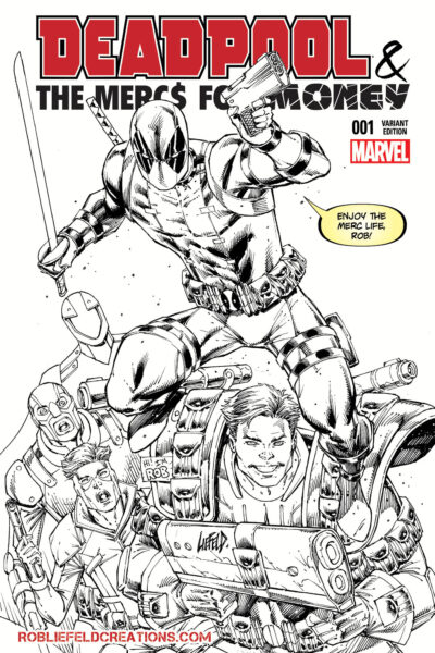 Deadpool Mercs for Money #1 BW