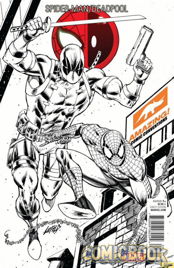 Spiderman:Deadpool #1 Signed Sketch Cover by Rob Liefeld