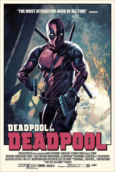 deadpool limited edition variant mondo variant poster
