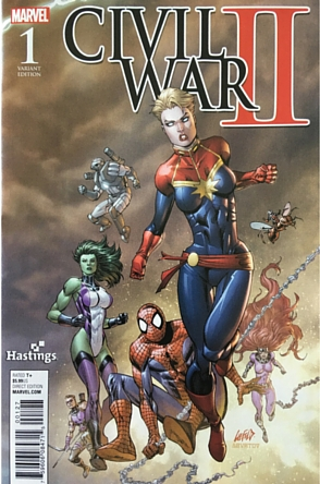 Civil War II #1 variant signed
