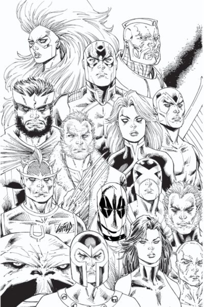 Inhumans vs. X-Men #1 Custom Sketch re-mark Deadpool covers.