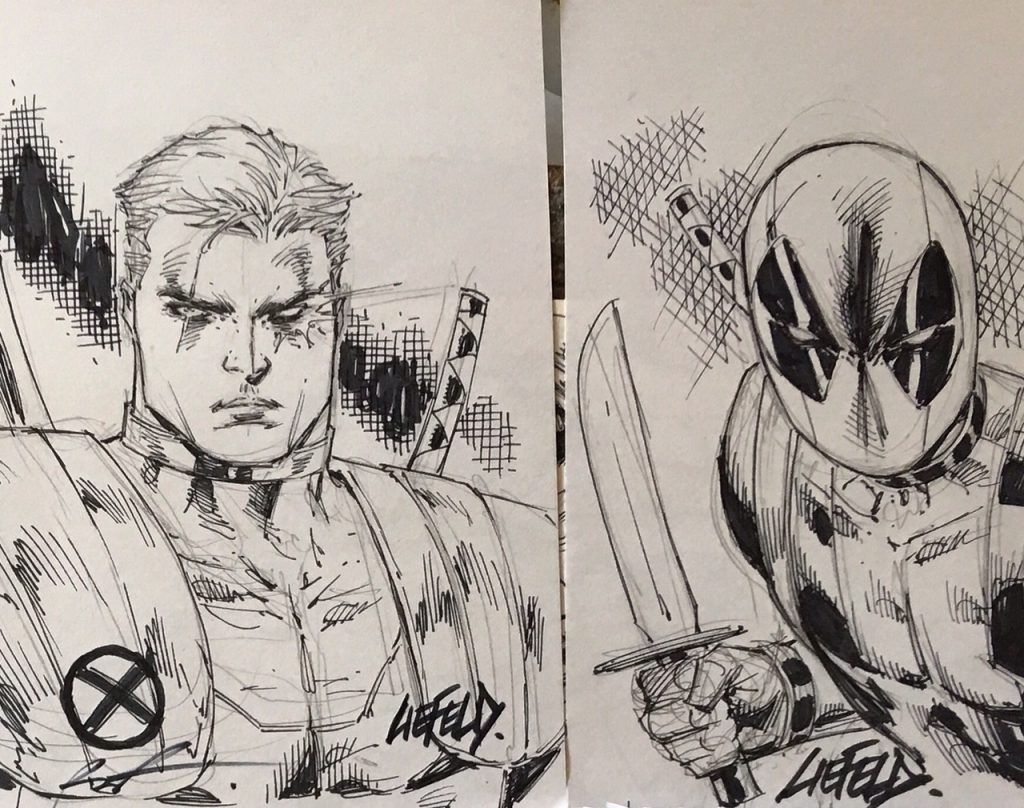 Vegas Comic Con Extreme Liefeld Sketch Pkg