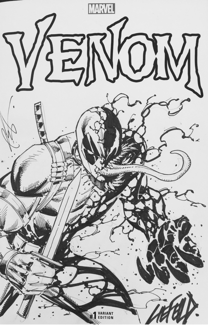 Deadpool Venom Sketch by Rob Liefeld