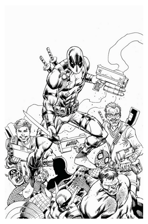 Deadpool Kills Marvel Universe #1 Stan & Rob Variant - Sketch