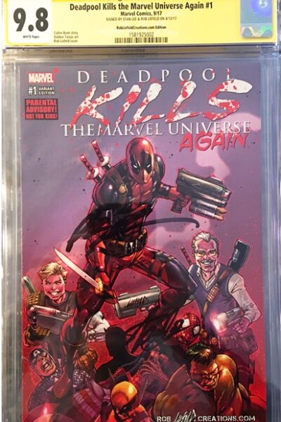 9.8 CGC Rob Liefeld & Stan Lee Deadpool comic!