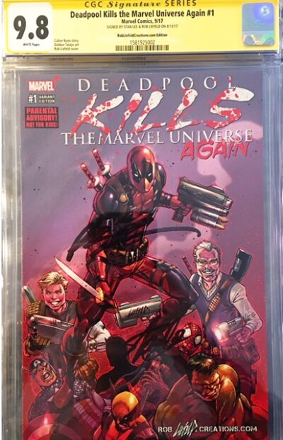 9.8 CGC Rob Liefeld & Stan Lee Deadpool comic!