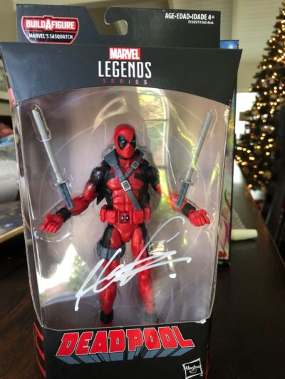 Signed Deadpool Action Figure in packaging