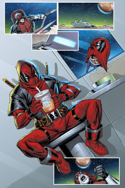 Deadpool Sneak! Kid Deadpool loves slurpees!