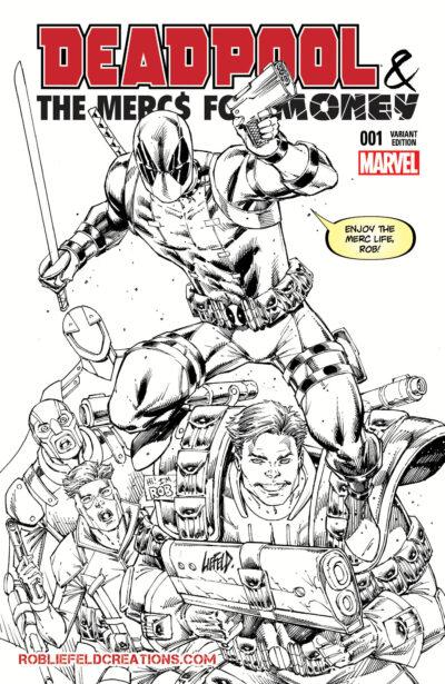 Deadpool Mercs for Money #1 BW