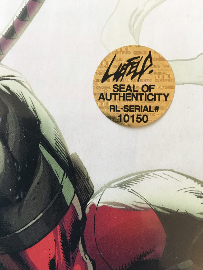 liefeld seal of authenticity