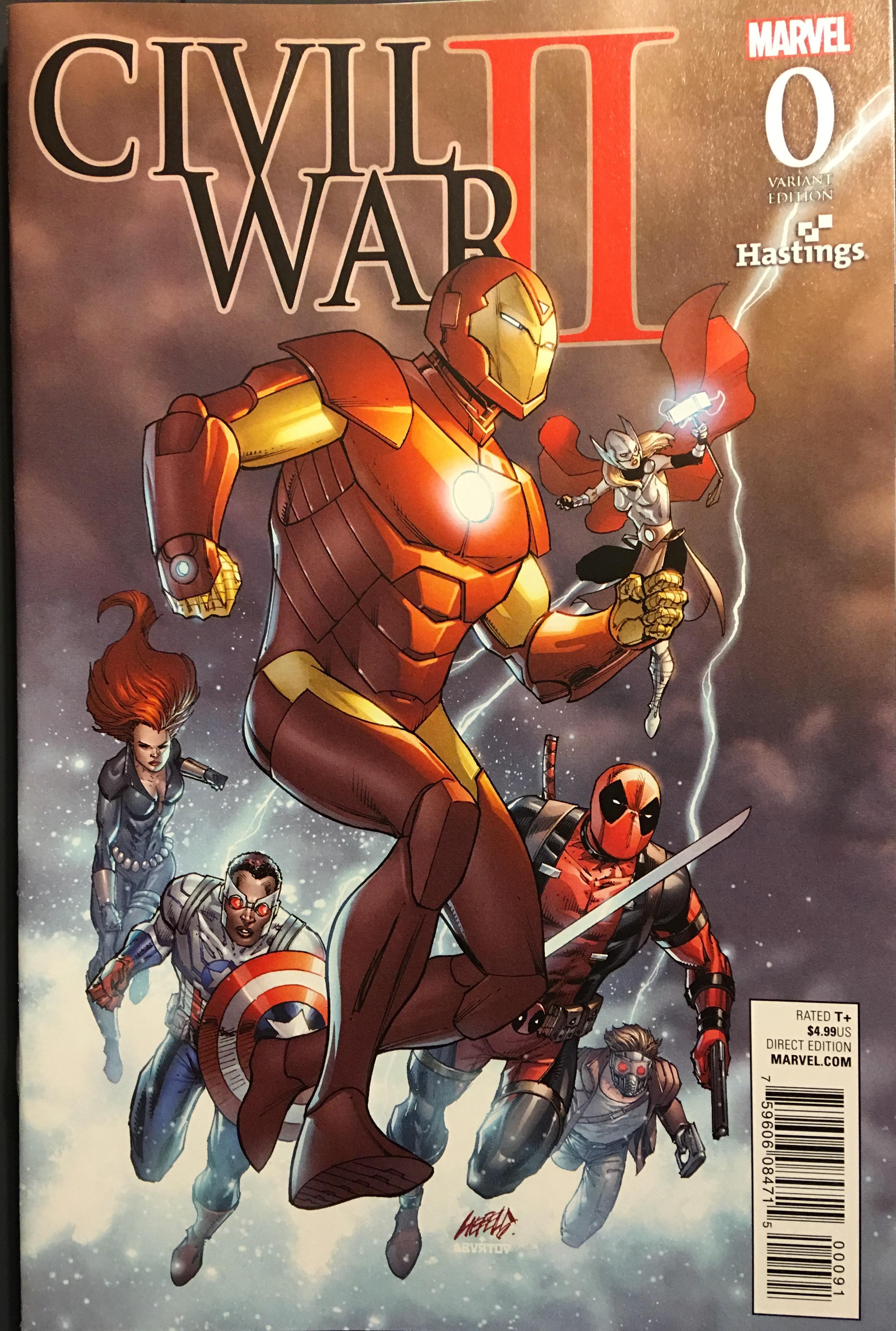 civil war #0 comic book