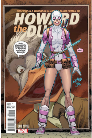 liefeld Howard the Duck Gwenpool variant
