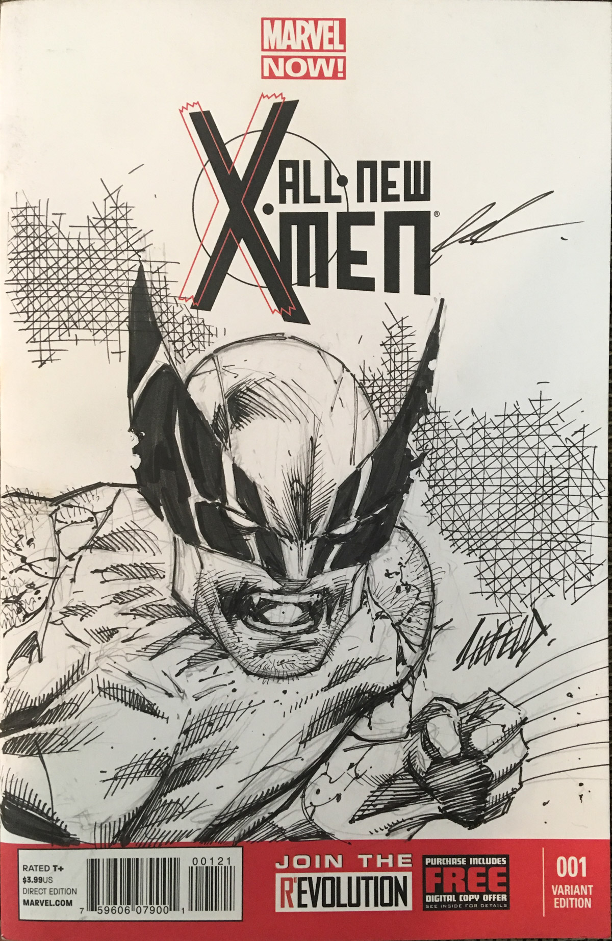 Xmen Sketch Cover