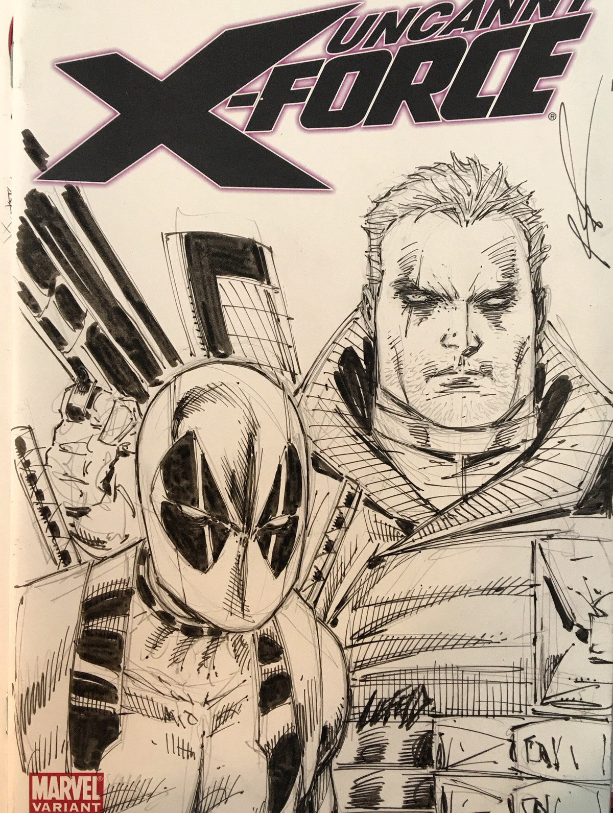 X-Force Cable Sketch Cover