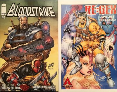 Extreme 2 Pack signed by Rob Liefeld