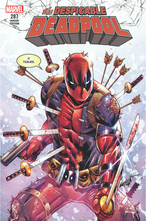Despicable Deadpool Bloody Liefeld Exclusive Variant Cover