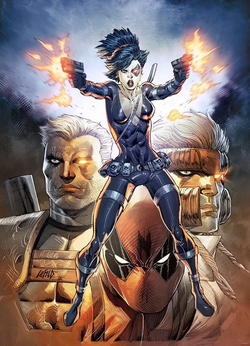 Domino #1 illustration - Cover for Rob Liefeld Exclusive