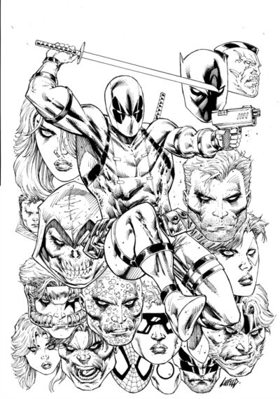 Deadpool #300 cover by Rob Liefeld