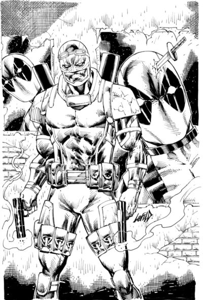 Foolkiller #1 Cover, featuring Deadpool, drawn by Rob Liefeld