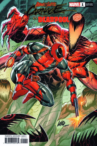 Art for covers of Deadpool Carnage