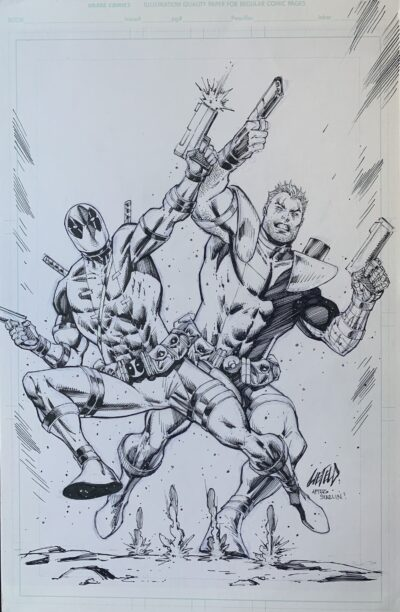 Deadpool and Cable original art