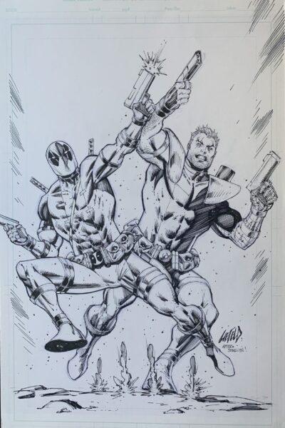 Deadpool and Cable original art