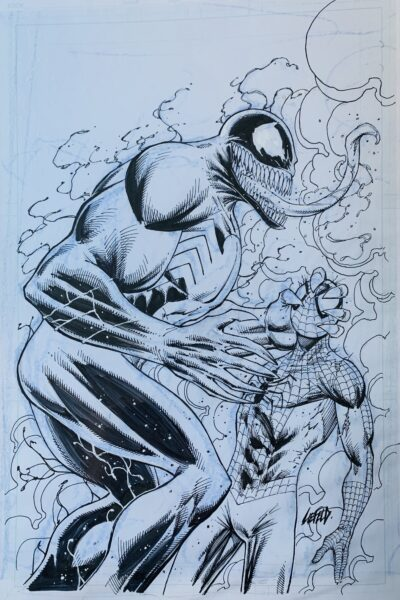 venom spider-man original art