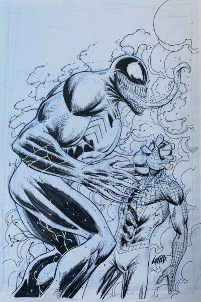 venom spider-man original art