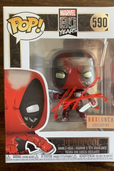 NEW Signed Metallic Deadpool Funko Pop!