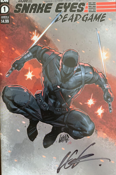 cover of SNAKE EYES #1 Cover A - Signed by Rob Liefeld!