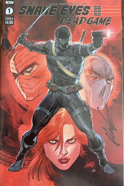 cover of SNAKE EYES #1 Cover B - Signed by Rob Liefeld!