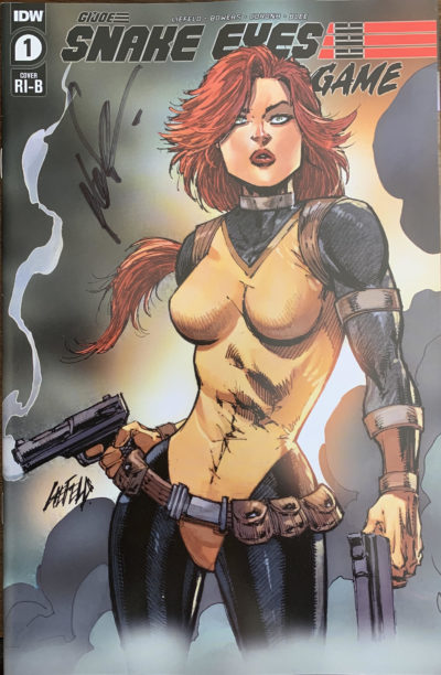 cover of SNAKE EYES #1 Scarlett Cover - Signed by Rob Liefeld!