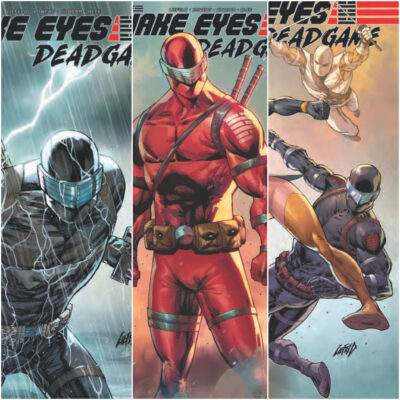 Covers of SNAKE EYES #3 THREE PACK