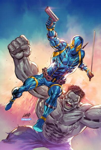 cover art for HULK Deadpool BLUE 30th Anniversary variant!