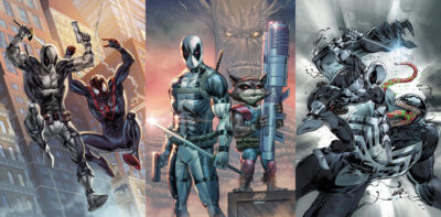 cover shots of Grey X-Force deadpool 3 pack