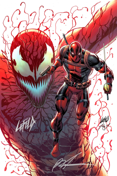 Cover art for Deadpool/Carnage Chisel Autograph COA Pack!